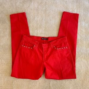 Levi's women straight leg red jeans size 32